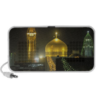 Golden dome of the Imam Reza Shrine Complex at Notebook Speaker