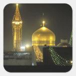 Golden dome of the Imam Reza Shrine Complex at Square Stickers