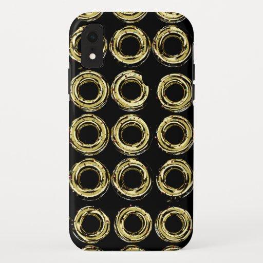 Golden donut iPhone XR case