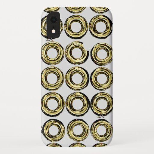 Golden donut.gray iPhone XR case