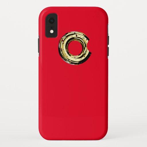 Golden donut rad iPhone XR case