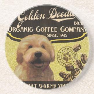 Golden Doodle Brand – Organic Coffee Company Drink Coaster