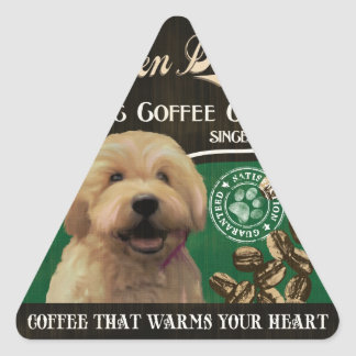 Golden Doodle Brand – Organic Coffee Company Triangle Sticker