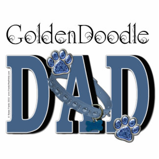 Golden Doodle DAD Photo Sculpture