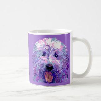 Golden Doodle Dazzling Purple Colors Coffee Mug