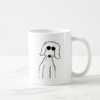 Golden Doodle in Sunglasses Coffee Mug