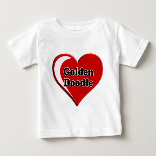 Golden Doodle on Heart for dog lovers Baby T-Shirt