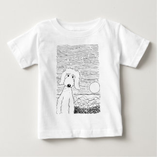 Golden Doodle on the Beach Baby T-Shirt
