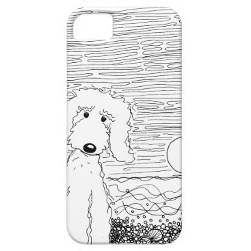 Beach Themed Golden Doodle on the Beach iPhone Case