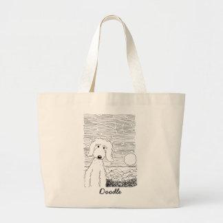 Golden Doodle on the Beach Jumbo Tote Jumbo Tote Bag
