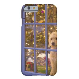 Golden Doodle puppy looking out glass door with Barely There iPhone 6 Case