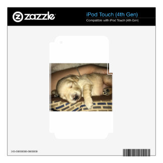 Golden Doodle Puppy Sleeping Decals For iPod Touch 4G