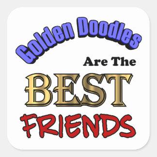Golden Doodles Make The Best Friends Square Sticker