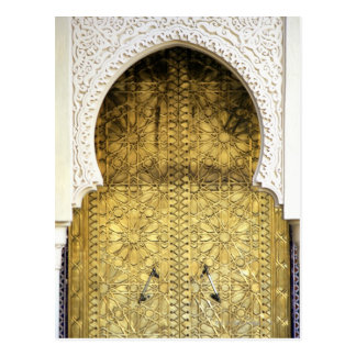Golden Door and an Arch Way, Morocco Postcard