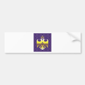 Golden Double headed Eagle Royal Logo Bumper Sticker