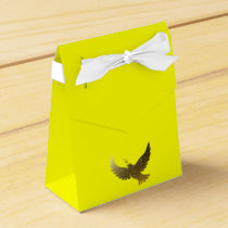 Golden Dove Faith Bless Peace Love Gold Pattern Favor Box