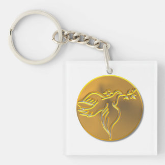 Golden Dove of Peace - Holy Spirit Keychain