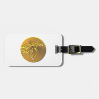 Golden Dove of Peace - Holy Spirit Luggage Tag
