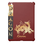 Golden Dragon and Banner Case For The iPad Mini