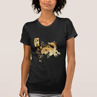 Golden Dragon and Banner T-Shirt