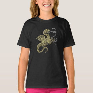 Golden Dragon and Silver Snake T-Shirt