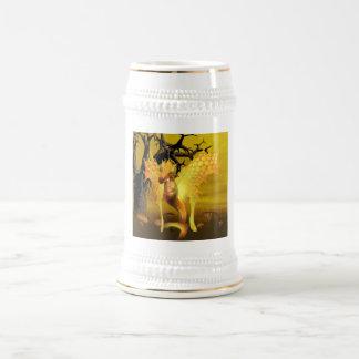 Golden Dragon Beer Stein 18 Oz Beer Stein
