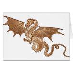 golden dragon blank note card