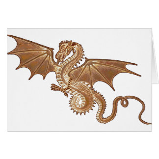golden dragon blank note card
