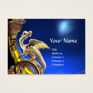 GOLDEN DRAGON BLUE SAPPHIRE Monogram Business Card