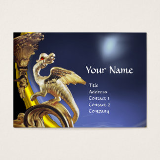 GOLDEN DRAGON BLUE TOPAZ  Monogram Business Card