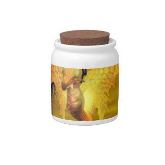Golden Dragon Candy Jar