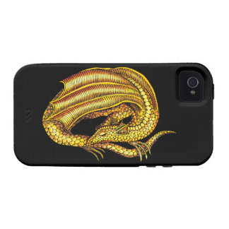 Golden Dragon Vibe iPhone 4 Covers
