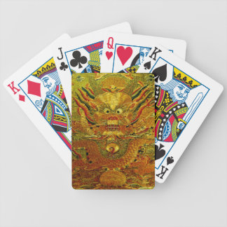 Golden dragon Chinese embroidery Ming dynasty Bicycle Playing Cards
