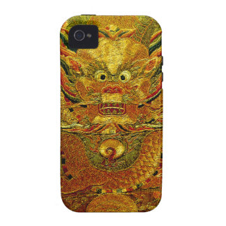 Golden dragon Chinese embroidery Ming dynasty Vibe iPhone 4 Case
