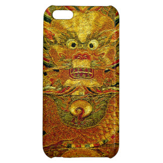 Golden dragon Chinese embroidery Ming dynasty Cover For iPhone 5C