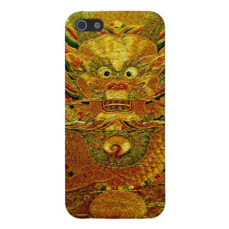 Golden dragon Chinese embroidery Ming dynasty Cover For iPhone SE/5/5s