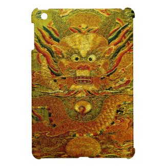 Golden dragon Chinese embroidery Ming dynasty iPad Mini Covers