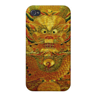 Golden dragon Chinese embroidery Ming dynasty iPhone 4/4S Case