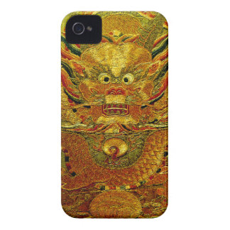 Golden dragon Chinese embroidery Ming dynasty iPhone 4 Case