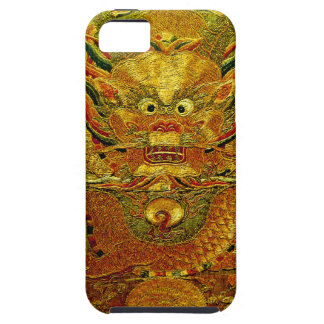 Golden dragon Chinese embroidery Ming dynasty iPhone SE/5/5s Case