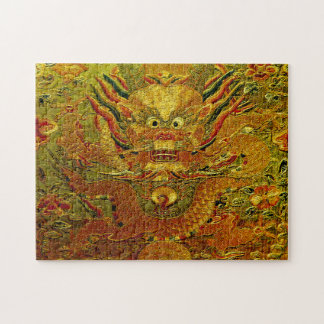 Golden dragon Chinese embroidery Ming dynasty Jigsaw Puzzle
