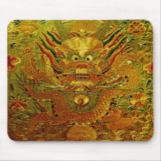 Golden dragon Chinese embroidery Ming dynasty Mouse Pad
