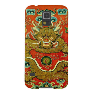 Golden dragon Chinese embroidery Qing dynasty Galaxy S5 Case