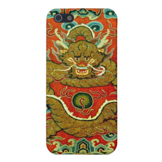 Golden dragon Chinese embroidery Qing dynasty Case For iPhone SE/5/5s