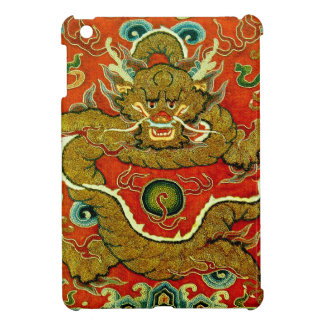 Golden dragon Chinese embroidery Qing dynasty iPad Mini Covers
