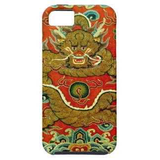 Golden dragon Chinese embroidery Qing dynasty iPhone SE/5/5s Case