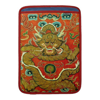 Golden dragon Chinese embroidery Qing dynasty MacBook Sleeve