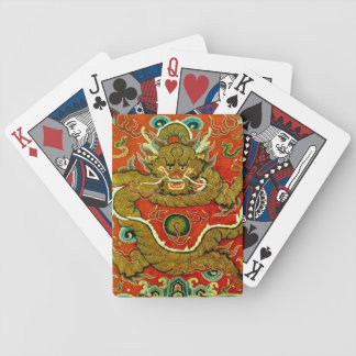 Golden dragon Chinese embroidery Qing dynasty Bicycle Playing Cards