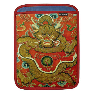 Golden dragon Chinese embroidery Qing dynasty Sleeve For iPads