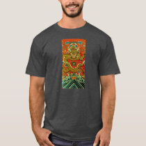 Golden dragon Chinese embroidery Qing dynasty T-Shirt